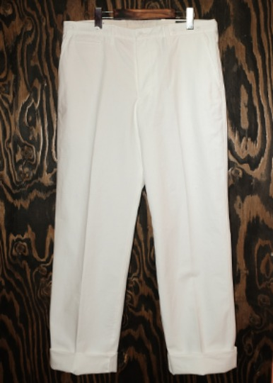 WHITE CANVAS WORK TROUSERS